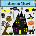 Halloween Clipart set contains: