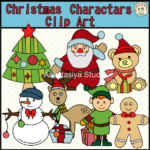 Сhristmas Сharacters СlipArt set contains: ~10 .png color images. ~10 .png black and white images. ~10 .jpeg color images. ~10 .jpeg black and white images. High quality graphics. 300 dpi.