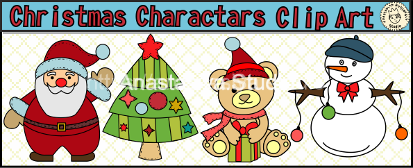 Christmas Characters Clipart