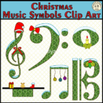 Christmas Music Symbols Clip Art set contains: