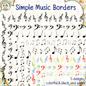 Simple Music Borders