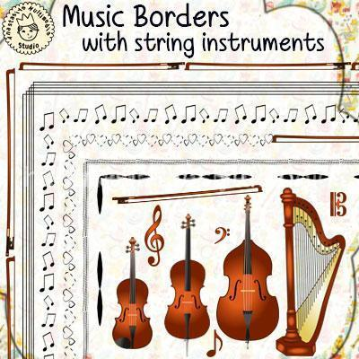 Music Borders with String Instruments