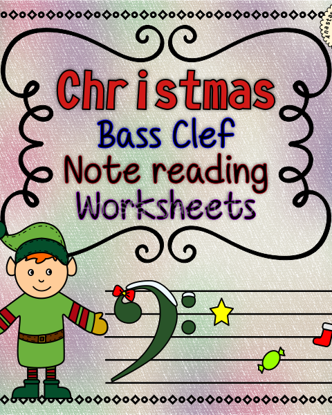 This set of 12 Music worksheets Christmas themed is designed to help your students practice identifying Bass pitch.
