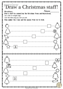 Christmas Music Worksheets {Lines-Spaces, High-Low}