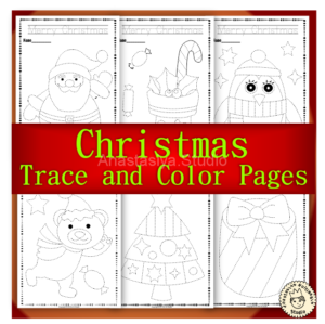 Christmas Trace and Color Pages
