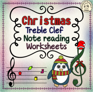 Christmas Treble Clef Note Reading Worksheet