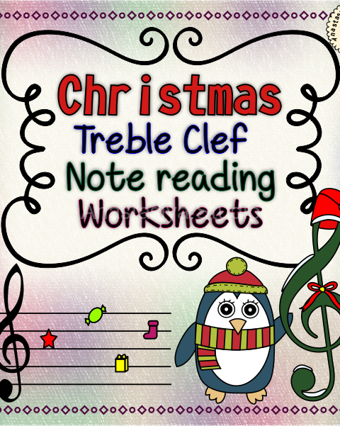 This set of 12 Music worksheets Christmas themed is designed to help your students practice identifying Treble pitch.