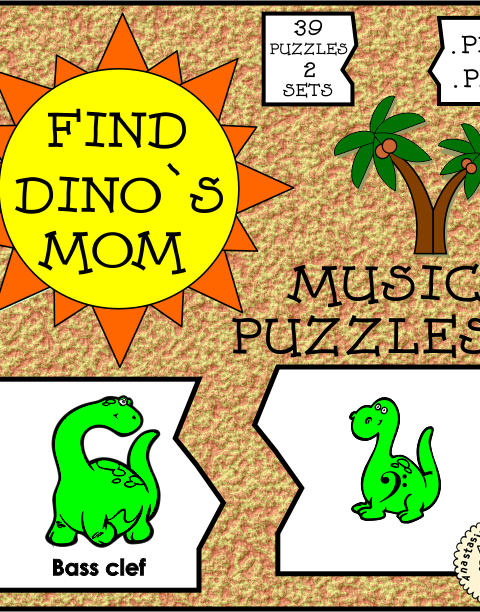 Music Symbol Puzzle Cards. Just print, laminate if desired, cut and play!