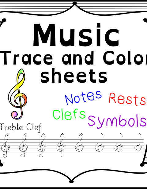 A set of 19 music worksheets is created to help your students learn music symbols, notes and rests commonly used in music. Practice in copying them onto their positions on the staff.  Each worksheet include Music symbol for coloring to build your child`s interest in music. Your students will practice copying them onto their positions on the staff.