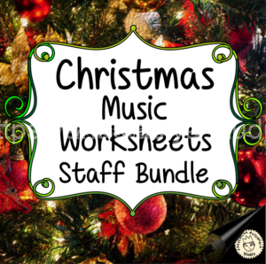 Christmas Music Worksheets - Staff Bundle