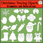 Christmas Tracing Clipart {Ornaments and Decorations}