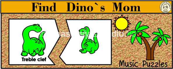 Find Dino`s Mom Music Puzzles
