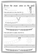 Lines ans Spaces Spring Worksheets pack