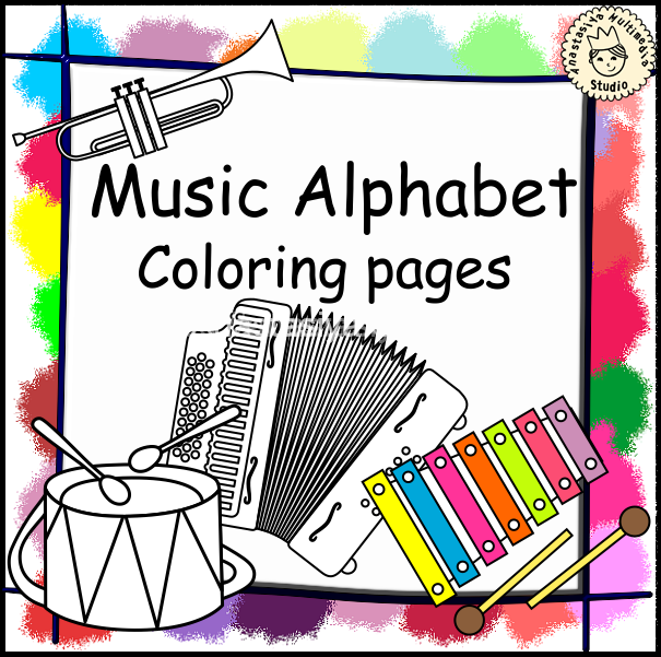 Musical Alphabet Coloring Pages : Music alphabet coloring pages anastasiya multimedia studio