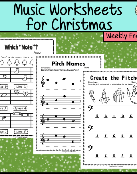 This freebie contains 3 Christmas themed Music Worksheets for Kids.