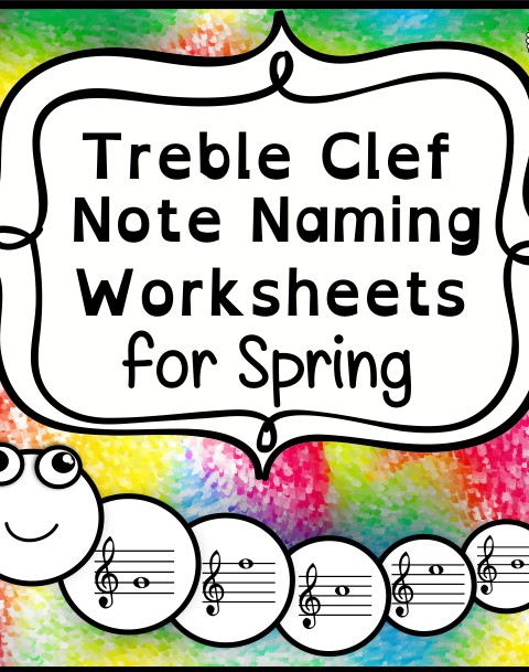 This set of 10 Music worksheets Spring themed is designed to help your students practice identifying Treble pitch.