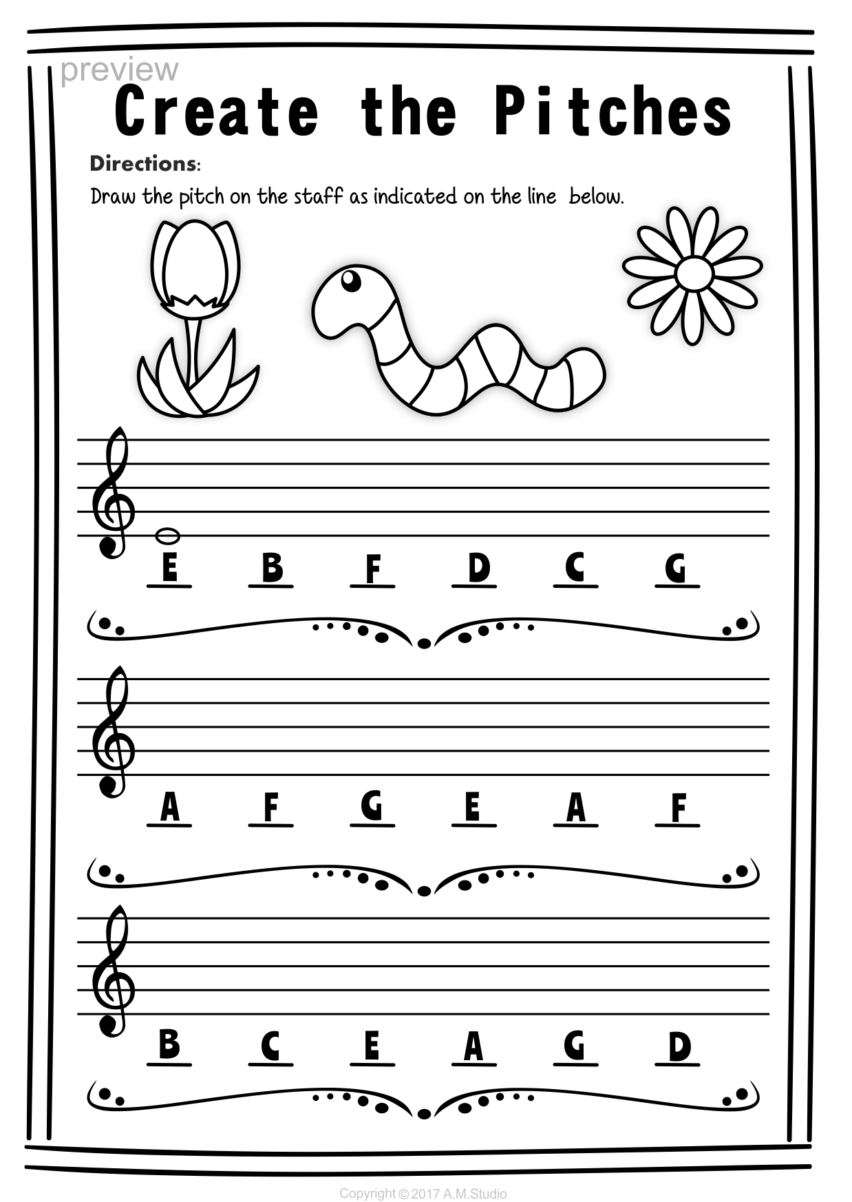Worksheets Treble Clef Worksheets treble clef note naming worksheets for spring6 anastasiya spring