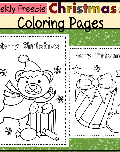 This freebie contains 3 Christmas themed coloring pages for Kids.