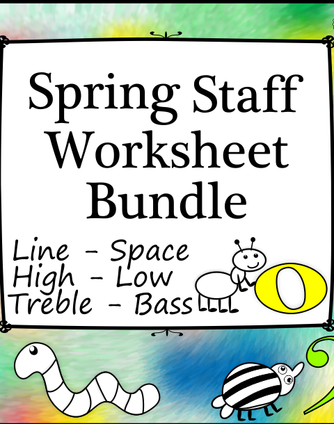 This set of 40 spring themed worksheets is designed to help your students practice identifying and notating line and space notes in treble and bass clefs.