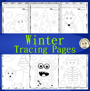 Winter Trace and Color Pages {Fine Motor Skills + Pre-writing}