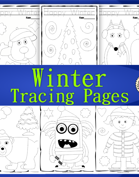 This .pdf file includes 25 Winter themed Tracing and Coloring Worksheets.