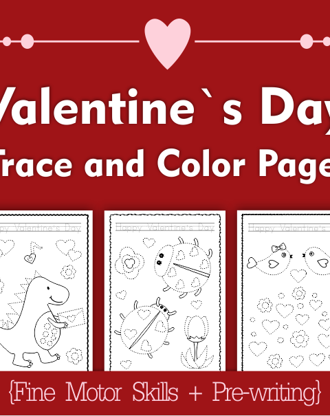 Tis .pdf file includes 20 Valentine`s Day themed Tracing and Coloring Worksheets.