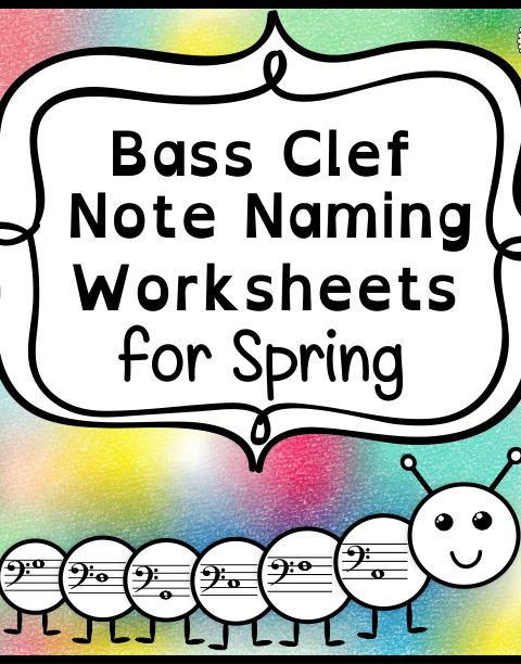 This set of 10 Music worksheets Spring themed is designed to help your students practice identifying Bass pitch.