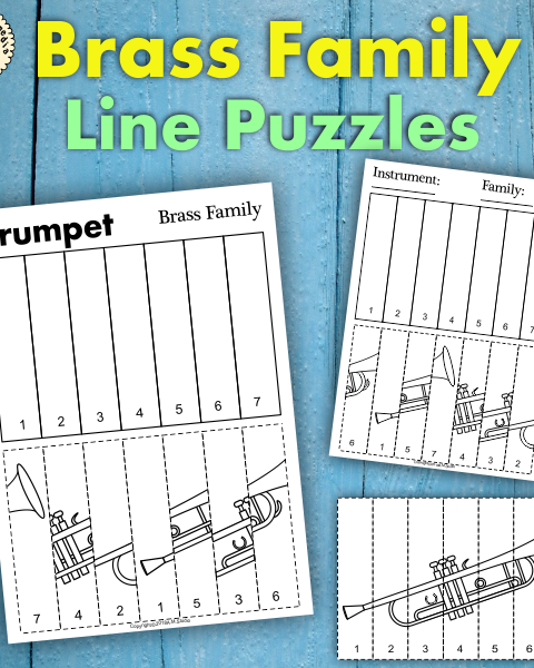 This resource contains three set of activities to help your students recognize and learn names of brass family instruments.