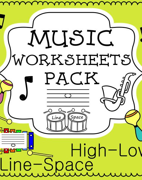 This set of 20 Music worksheets is designed to help your students practice identifying whether a pitch is on a line or in a space and practice high or low pitches.