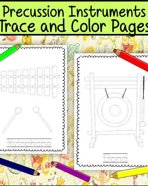 This file (in PDF form) contains 16 Percussion Musical Instruments trace and coloring pages. Each page contains an instrument picture to trace and color and the name of the instrument.