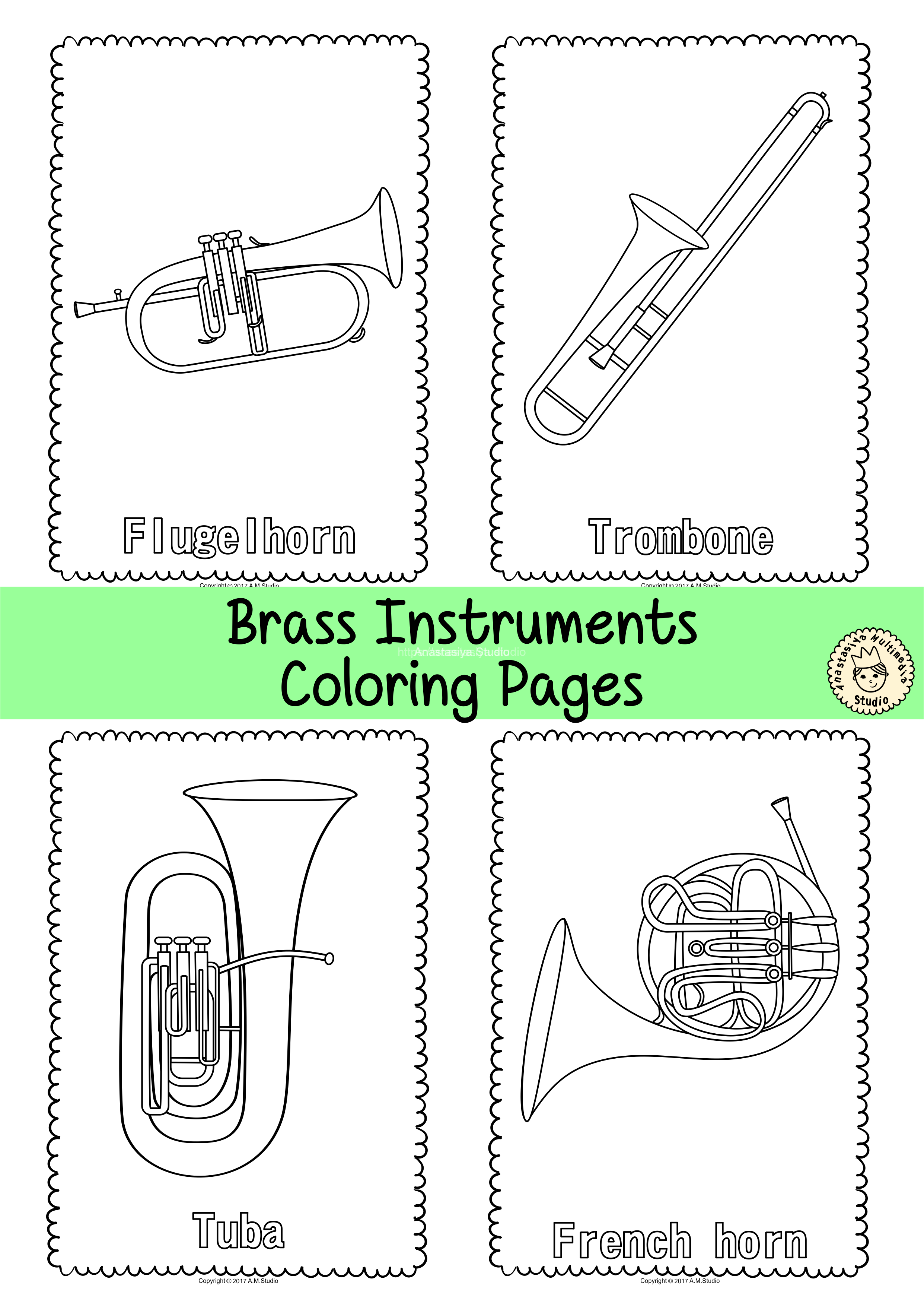 - Musical Instruments Coloring Pages * Anastasiya Multimedia Studio