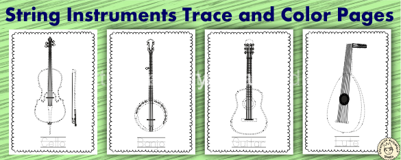 String Instrument Trace and Color Pages