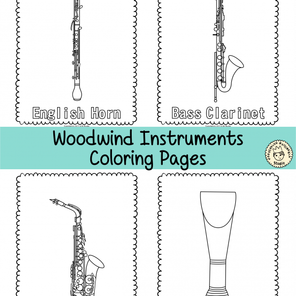 Musical Instruments Coloring Pages * Anastasiya Multimedia Studio