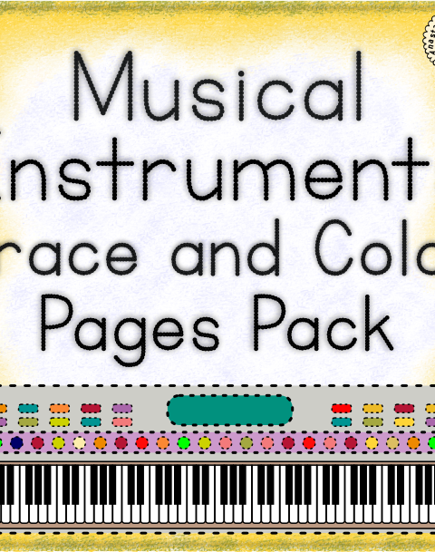 This product contains 55 'Trace and Color' Pages and is not to be missed! They are a perfect aide to every music teacher. Simply print them off and they are ready to be handed out to your budding musicians.