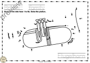Brass Instruments Dots to dots Worksheets