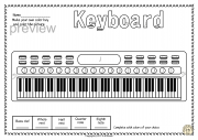 Keyboard Instruments Color by Music Pages