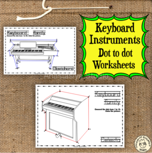 Keyboard Instruments Dot to dot Worksheets