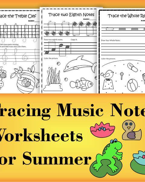 A set of 20 summer themed music worksheets is created to help your students learn to trace, copy, color and draw symbols, notes and rests commonly used in music. Practice in copying them onto their positions on the staff is provided in large size.