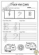 Tracing Music Notes Worksheets for Summer