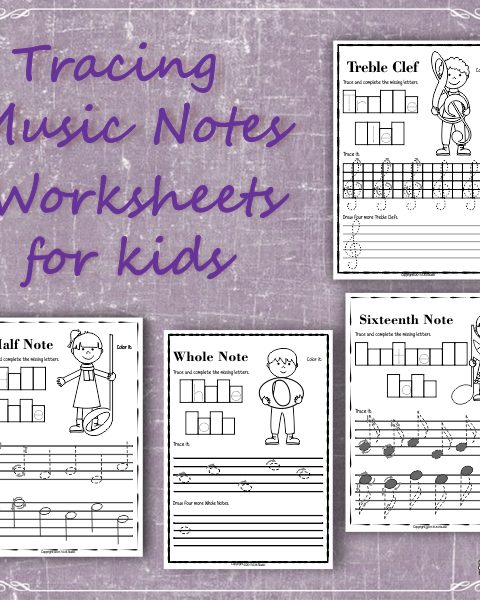 A set of 17 music worksheets is created to help your students learn to trace, copy, color and draw symbols, notes and rests commonly used in music. Practice in copying them onto their positions on the staff is provided in a large size.