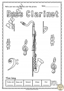 Woodwind Instruments Color by Music Pages