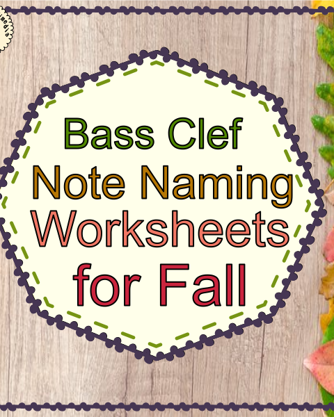 This set of 10 Music worksheets Fall/Autumn themed is designed to help your students practice identifying Bass pitch.