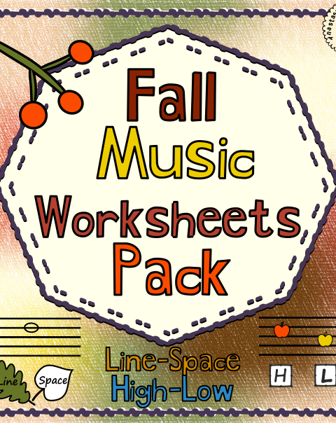 This is  set of 20 Autumn themed music worksheets designed to help your students practice identifying whether a pitch is on a line or in a space and practice high/low pitches.