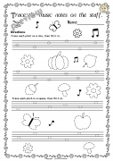 Fall Music Worksheets Pack (Line -Space, High -Low)