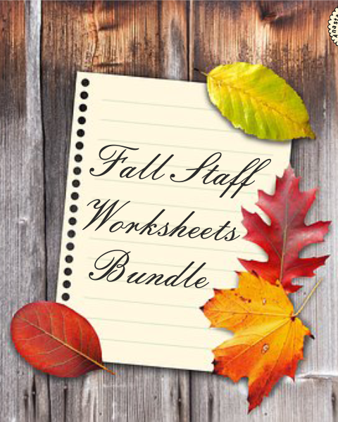 This set of 40 fall/autumn themed worksheets is designed to help your students practice identifying and notating lines and spaces in treble and bass clefs.