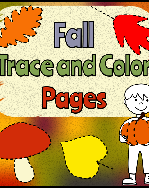 This .pdf file includes 10 Fall/Autumn tracing and coloring worksheets.