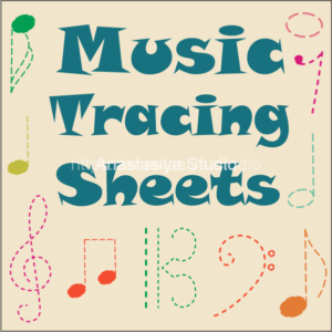 Music Tracing Sheets