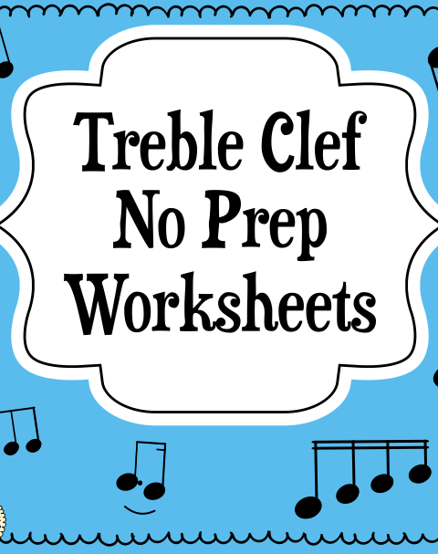 This set of 10 Music worksheets is designed to help your students practice identifying Treble pitch.
