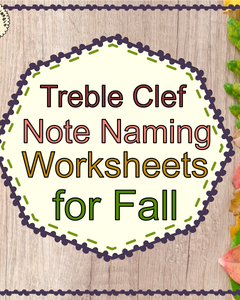 This set of 10 Music worksheets Fall/Autumn themed is designed to help your students practice identifying Treble pitch.