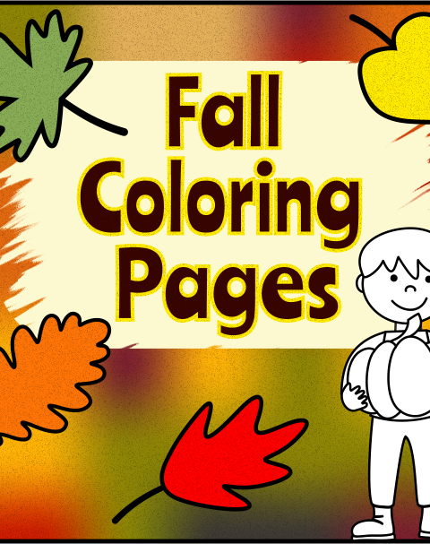 This fall coloring pages activity includes 10 different coloring worksheets.